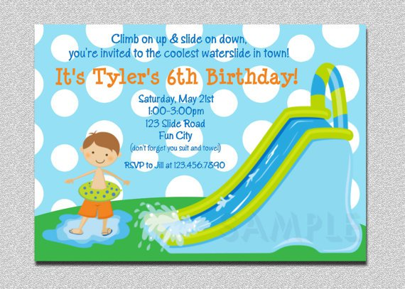 Free Printable Water Park Birthday Invitations