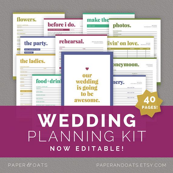 Free Printable Wedding Planning Organizer