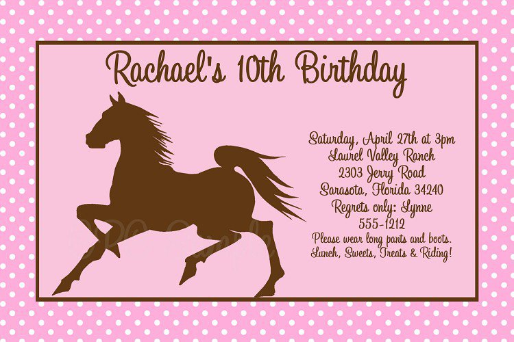 Free Printable Western Birthday Invitation Templates