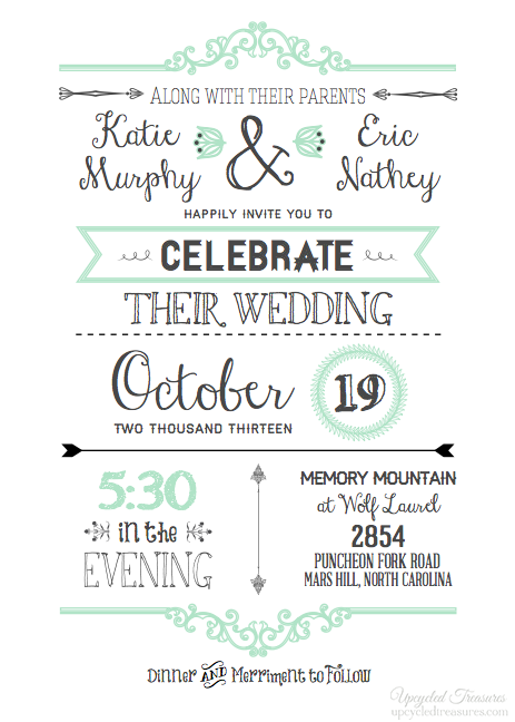 Free Printable Western Wedding Invitation Templates