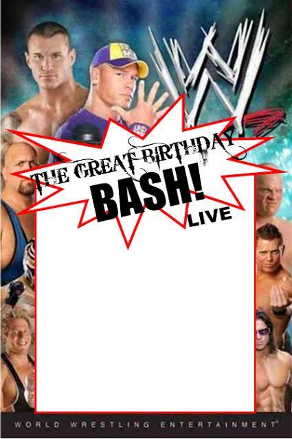 Free Printable Wwe Birthday Party Invitations