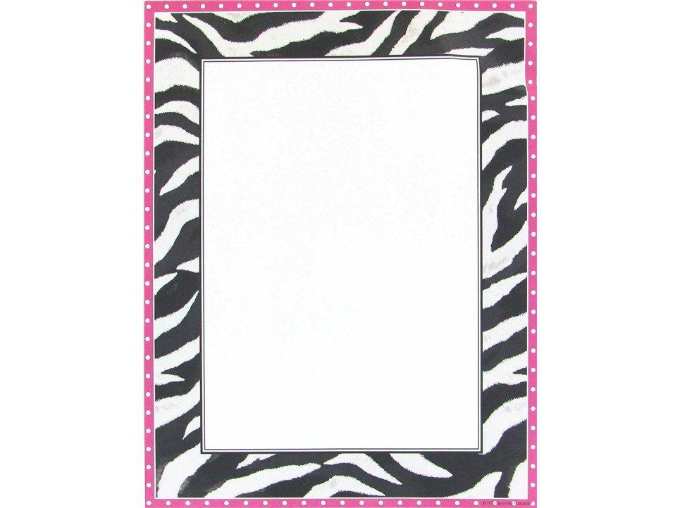 Free Printable Zebra Print Border Paper