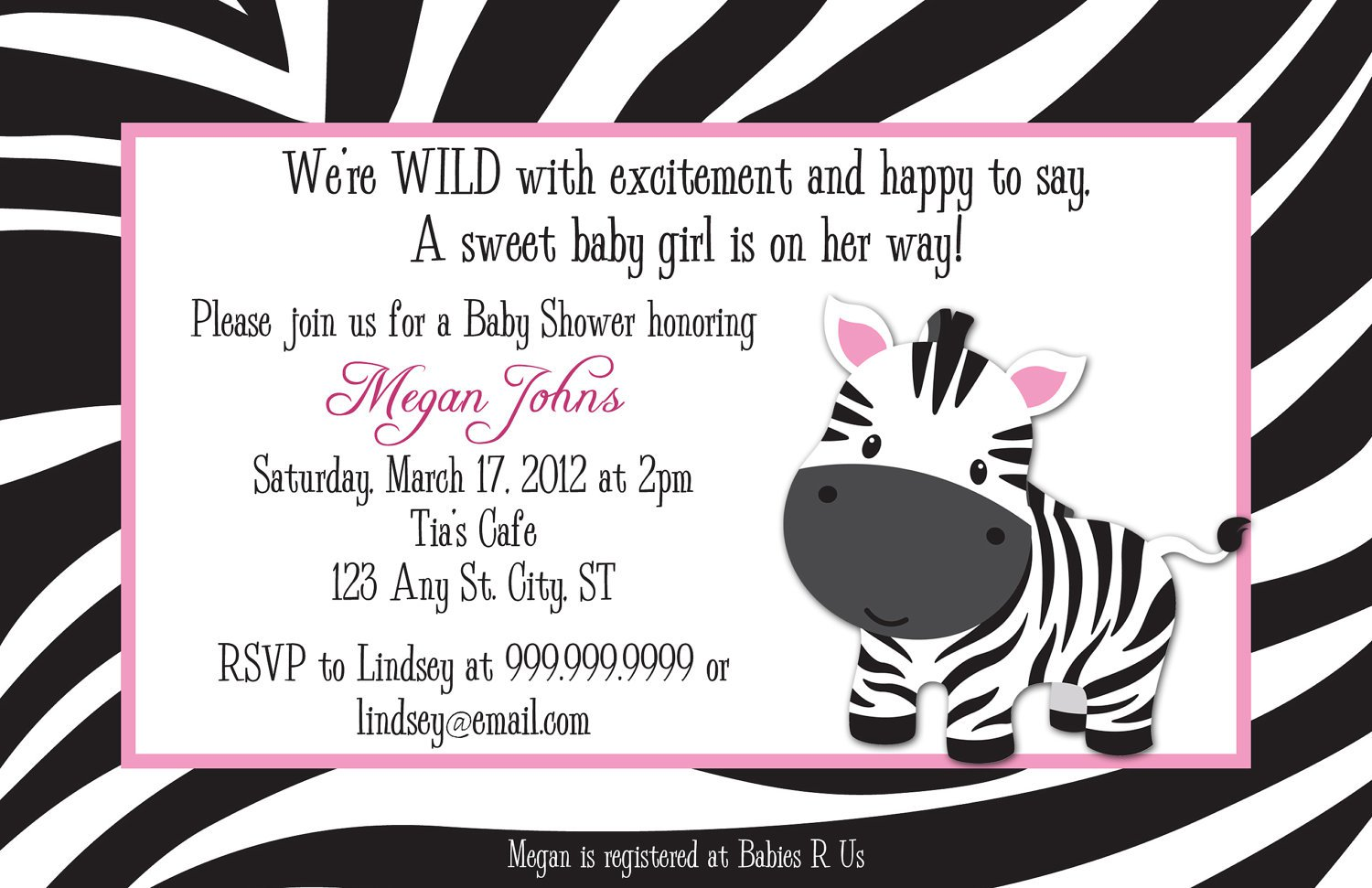 free printable zebra print birthday invitations, Birthday invitations