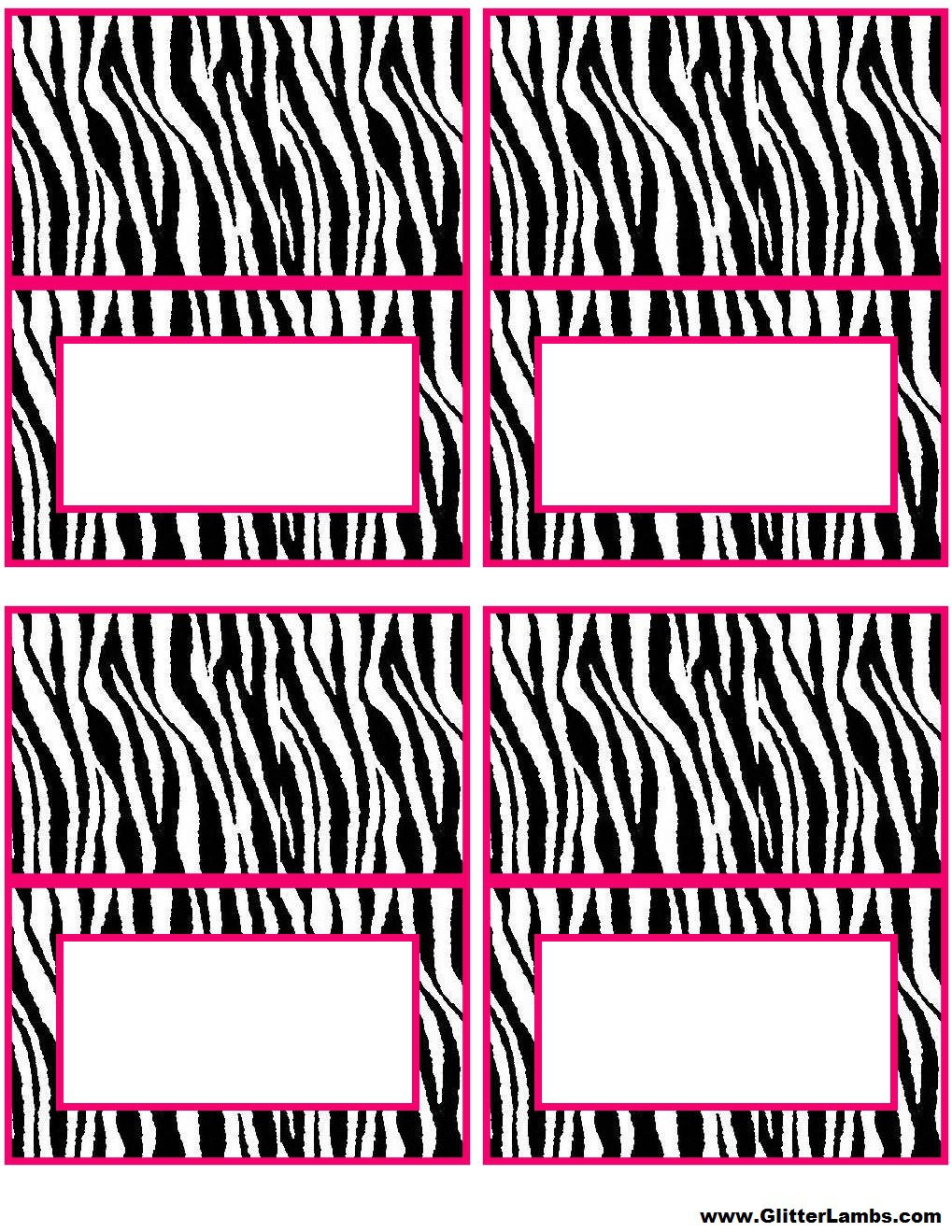 Free Printable Zebra Stripe Birthday Invitations