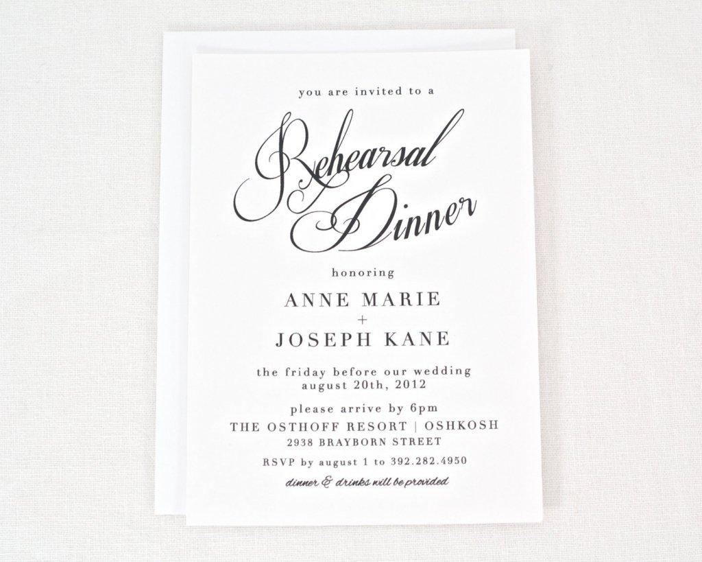 Free Rehearsal Dinner Invitation Templates Printable