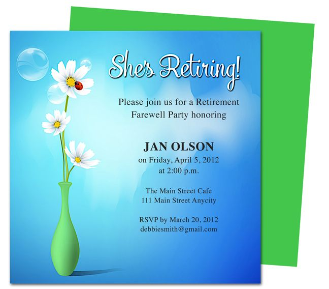 Retirement Party Flyer Invitation Templates