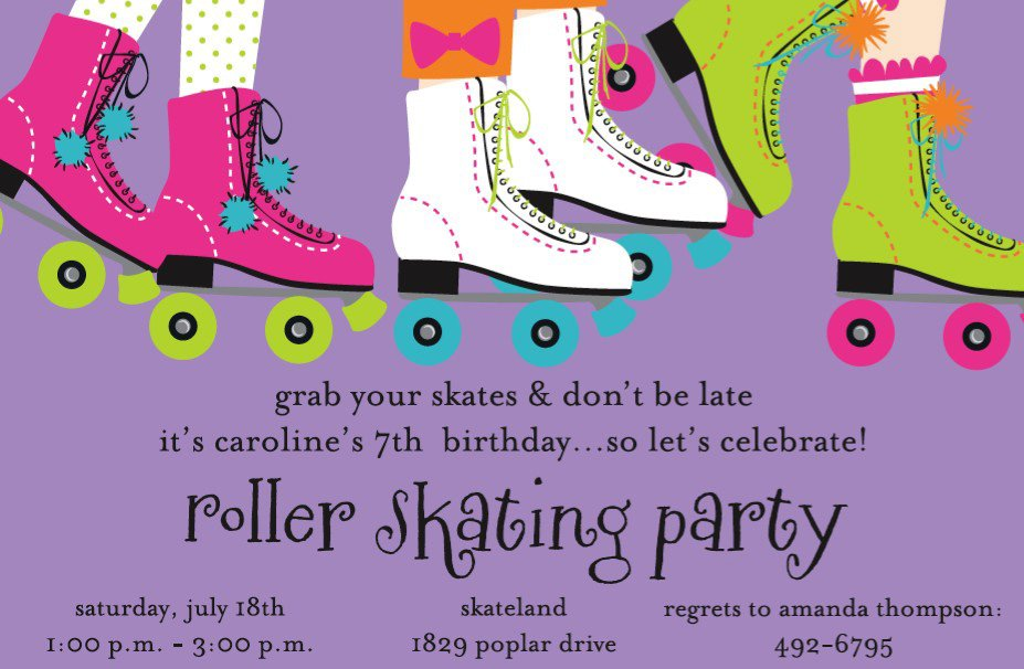 Free Roller Skating Invitations To Print