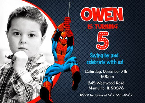 Free Spiderman Birthday Invitations Printable