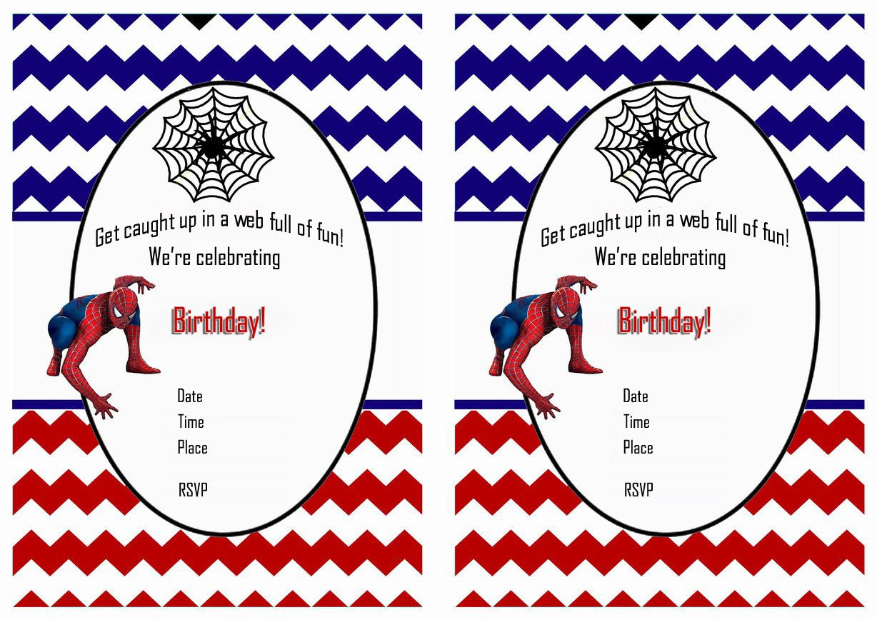 Free Spiderman Birthday Invites Printable
