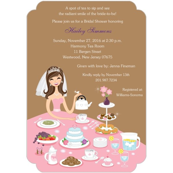 Free Tea Party Bridal Shower Invitation Templates