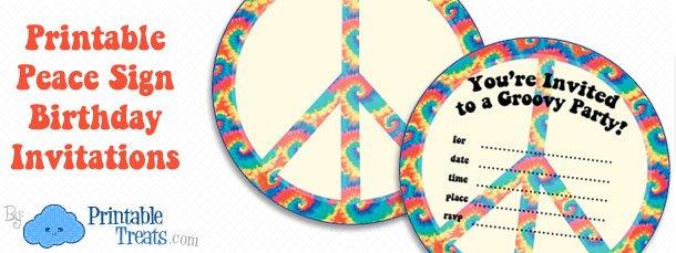 Free Tie Dye Printable Invitations