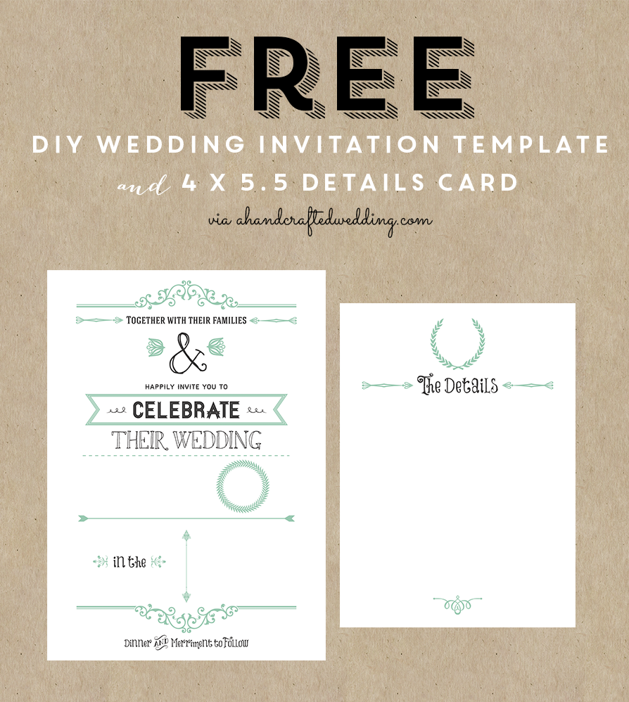 Bridal shower invitation free templates for word for Free wedding invitation templates for word