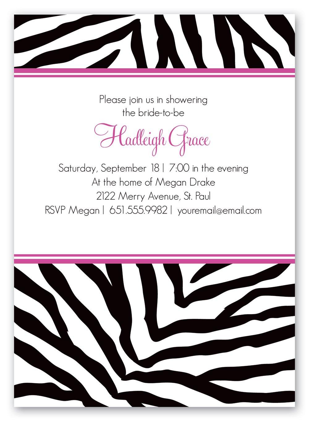 Free Zebra Birthday Invitation Templates