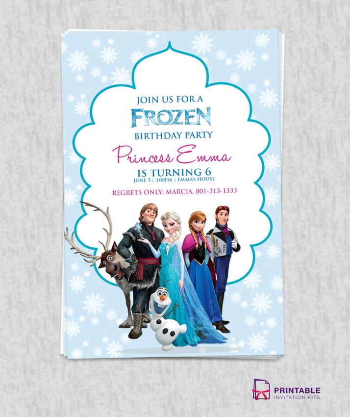 Frozen Birthday Invitation Templates Free