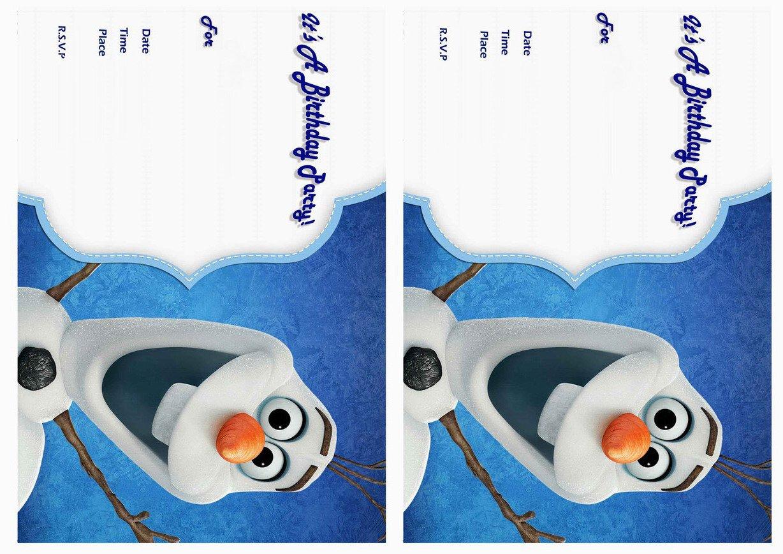 Frozen Birthday Party Invitations Free Printable