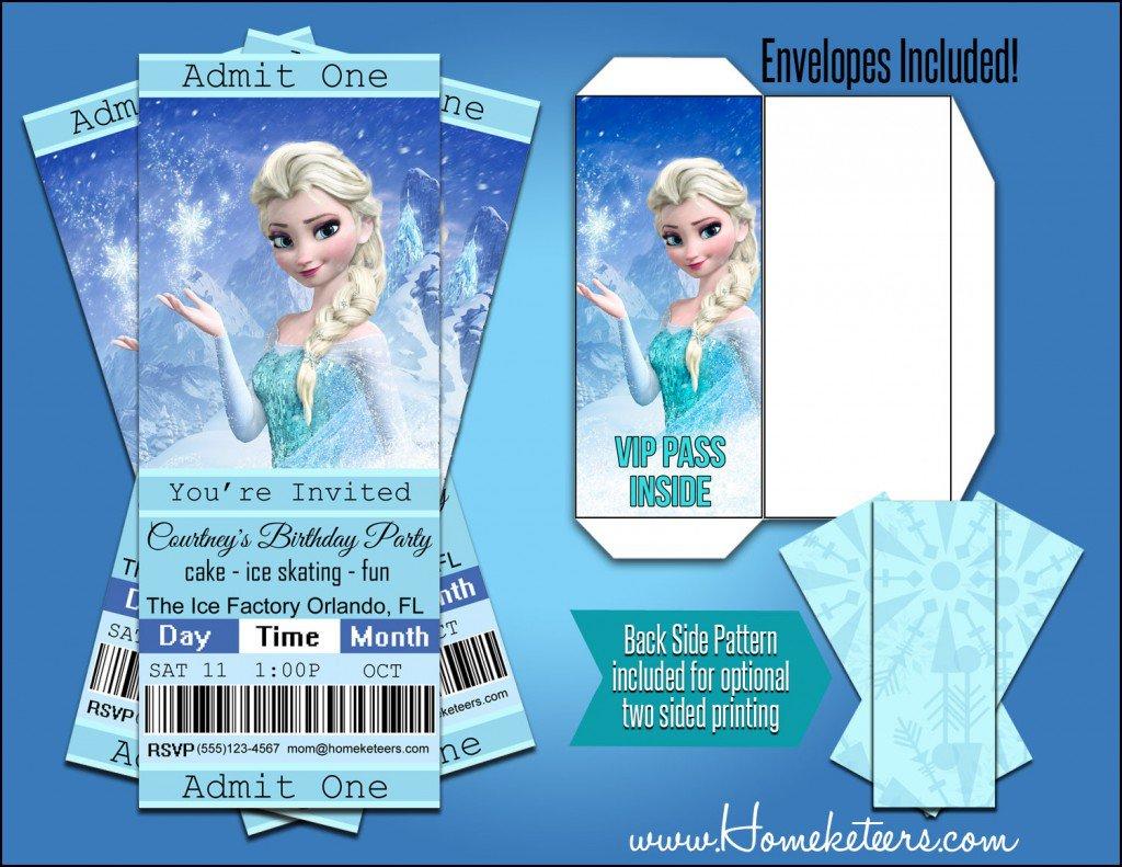 Frozen Personalized Invitations Free