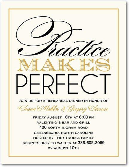 Fun Wedding Rehearsal Dinner Invitation Wording