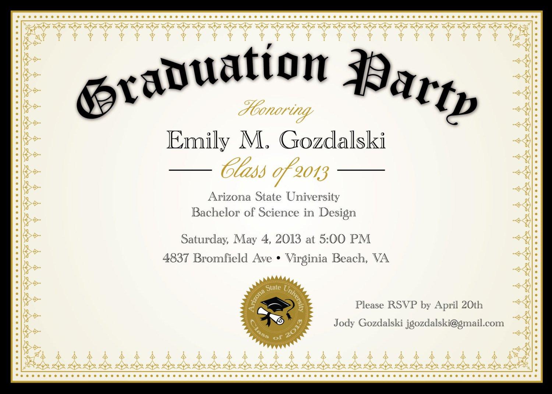 Funny Graduation Party Invitation Templates