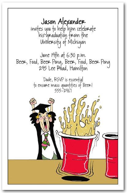 Funny Graduation Party Invitation Wording