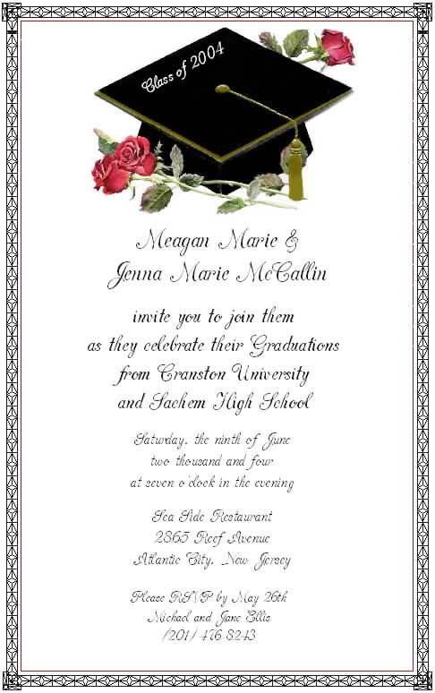 Funny Graduation Party Invitation Wording Samples