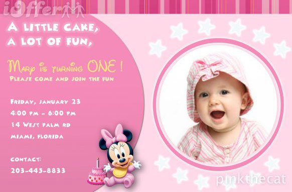 Girl Birthday Party Invitation Cards