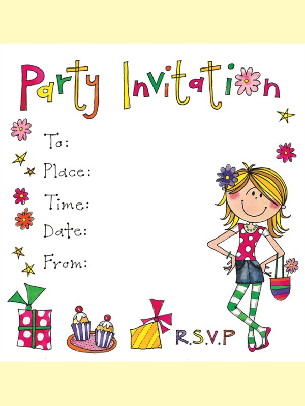 Girl Party Invitations Uk