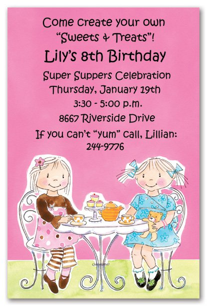 tea party invitation wording, Party invitations