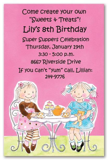 Girls Tea Party Invitation Wording