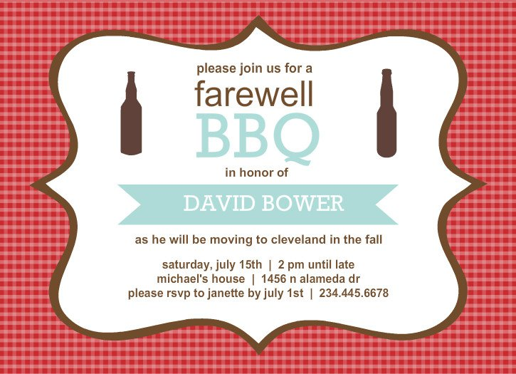 Going Away Invitation Templates Free
