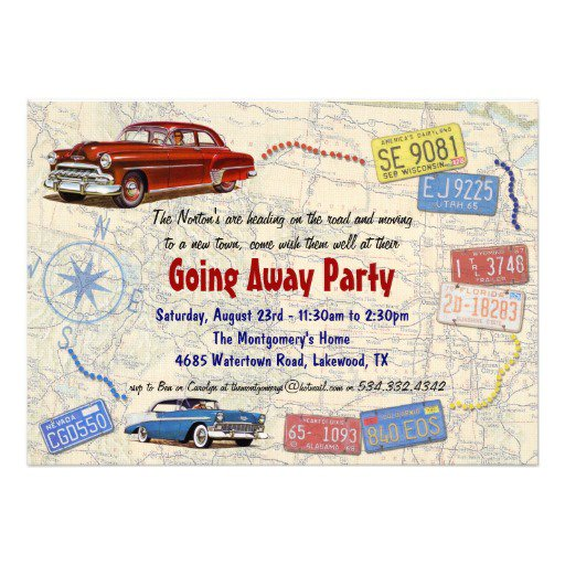 Going Away Party Invitation Wording College