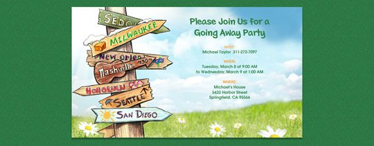Moving Away Party Invitations
