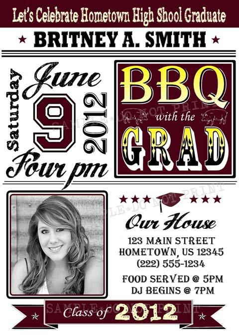 Graduation Bbq Invitations Free