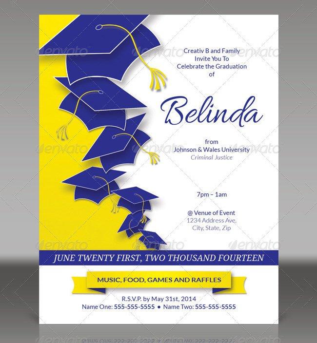 Graduation Bbq Invitations Template