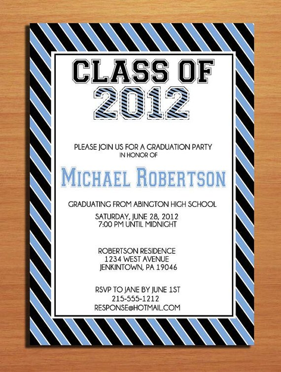 Graduation Invitation Cards Walmart