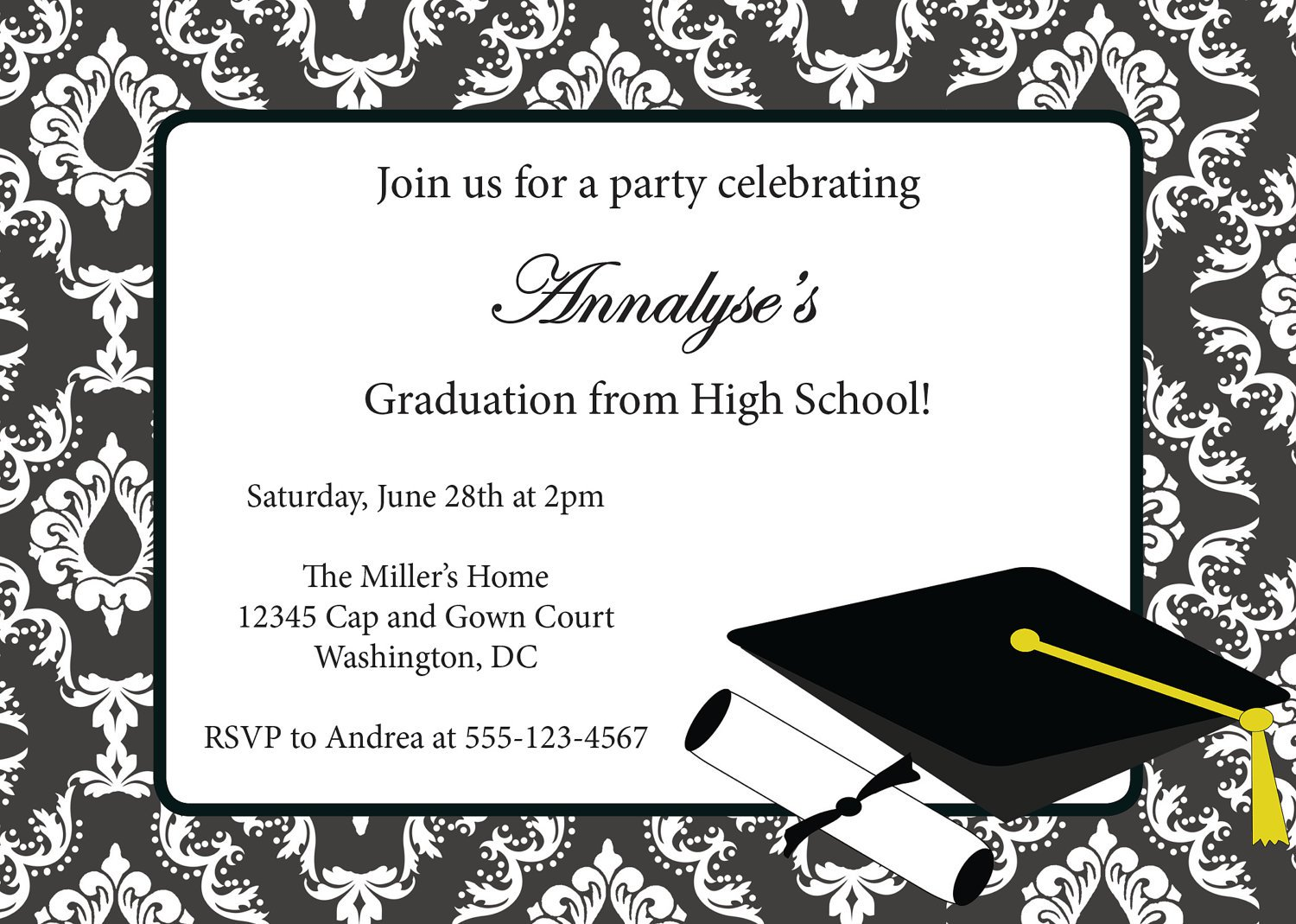 Graduation Party Invitations 2015 Free Printable