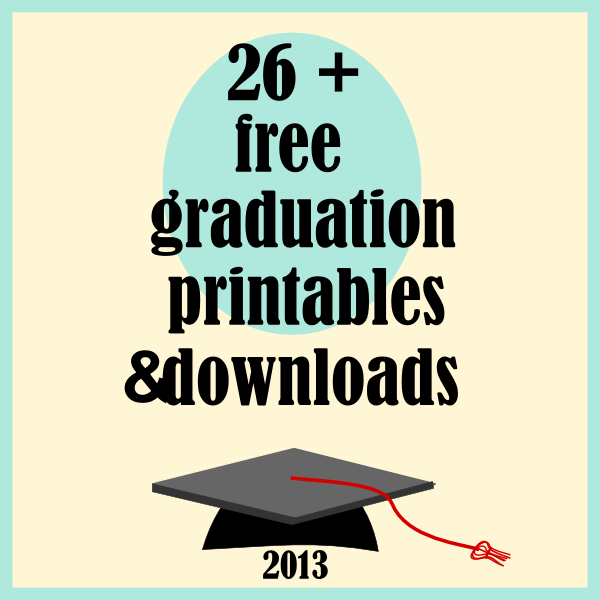 Graduation Printable Card Templates