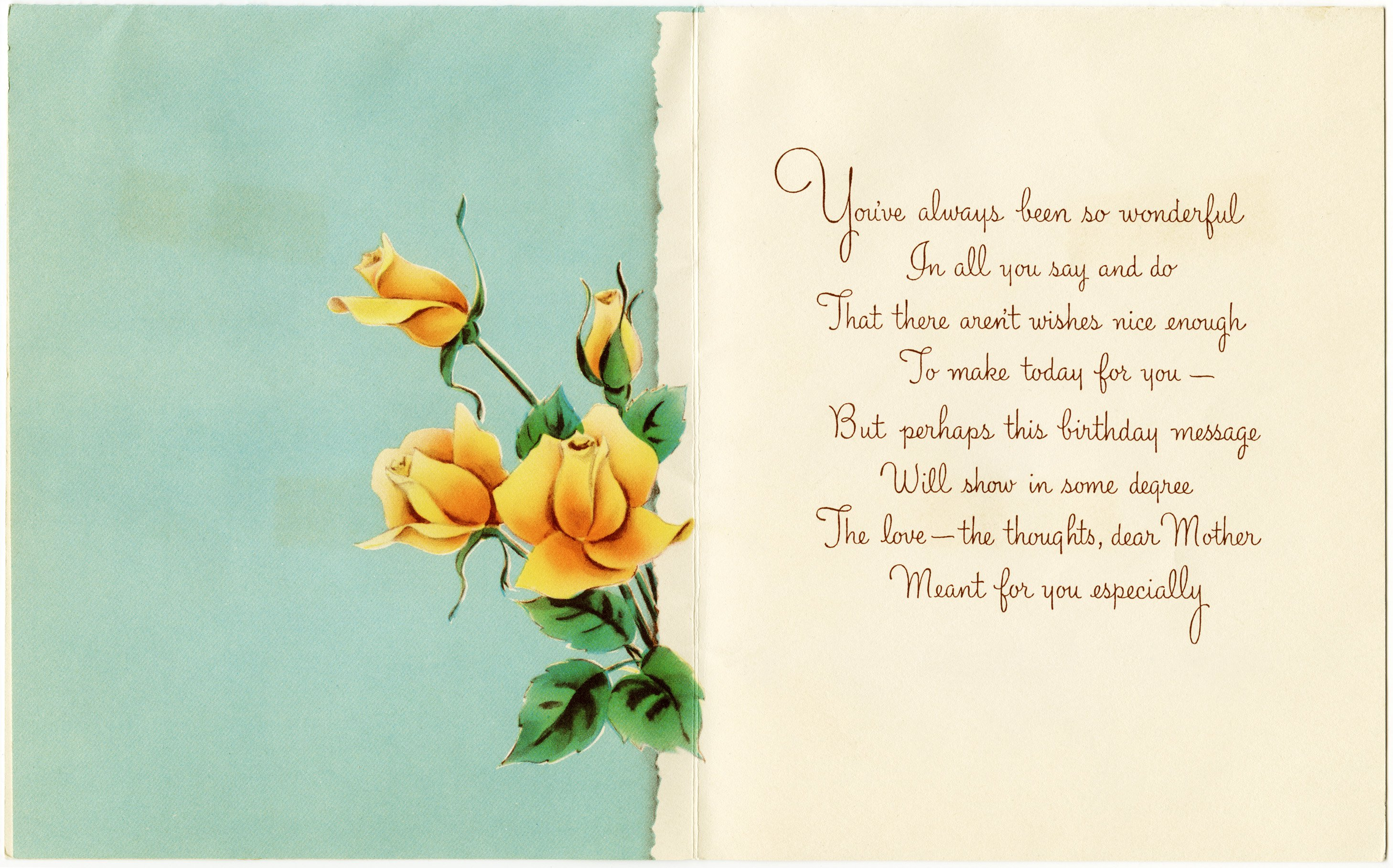Happy Birthday Mom Birthday Card Print For Free