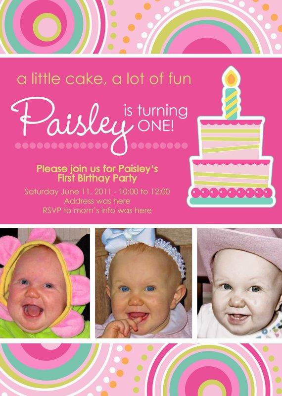 Happy First Birthday Invitations