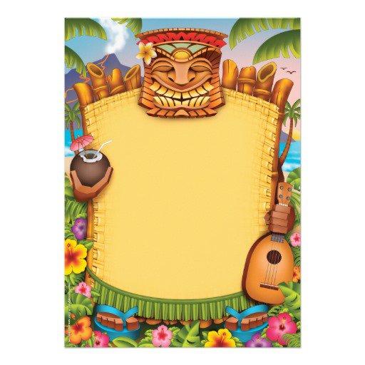 Hawaii Blank Party Invitations