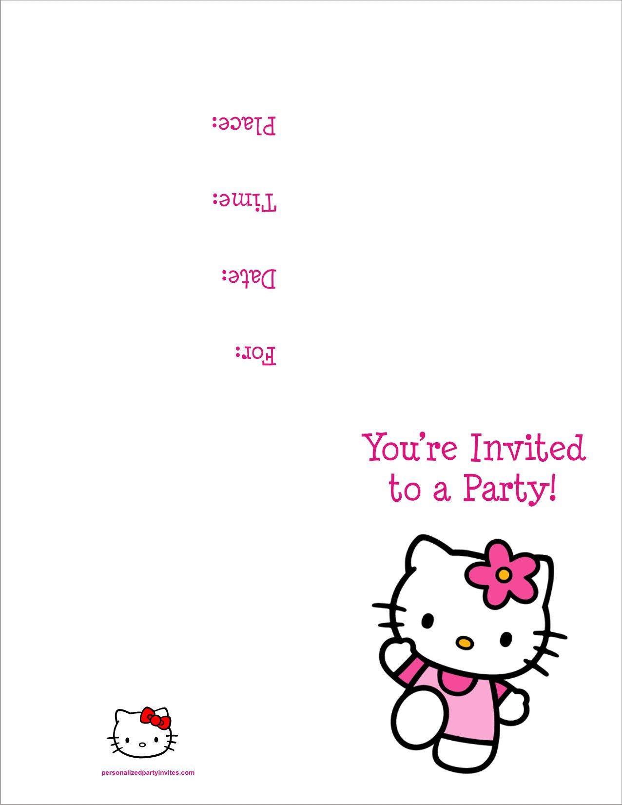 Hello Kitty Birthday Party Invitations Free