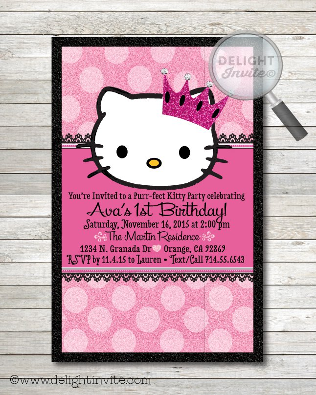 Hello Kitty Happy Birthday Glitter Graphics