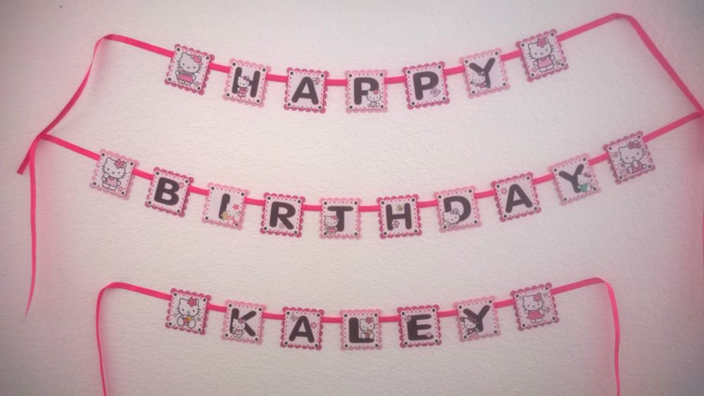 Hello Kitty Personalized Banner