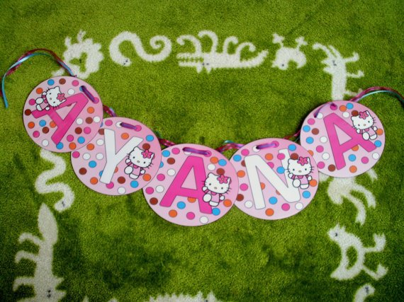Hello Kitty Personalized Banners For Birthdays