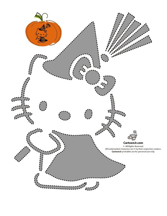 Hello Kitty Printable Stencils