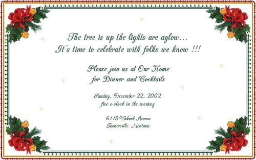 Holiday Lunch Invitation Samples