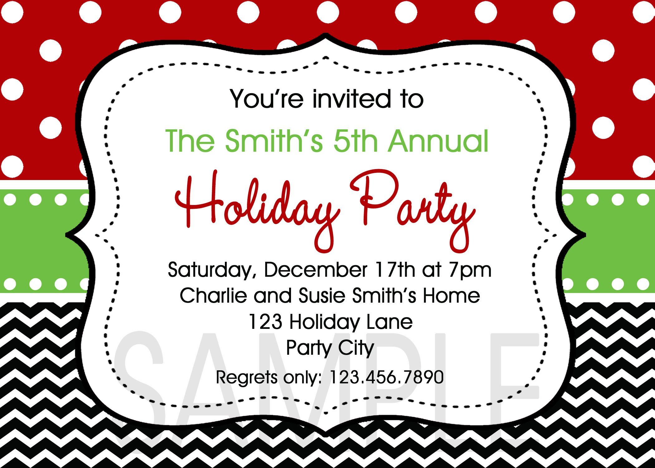 Holiday Luncheon Invitations Templates