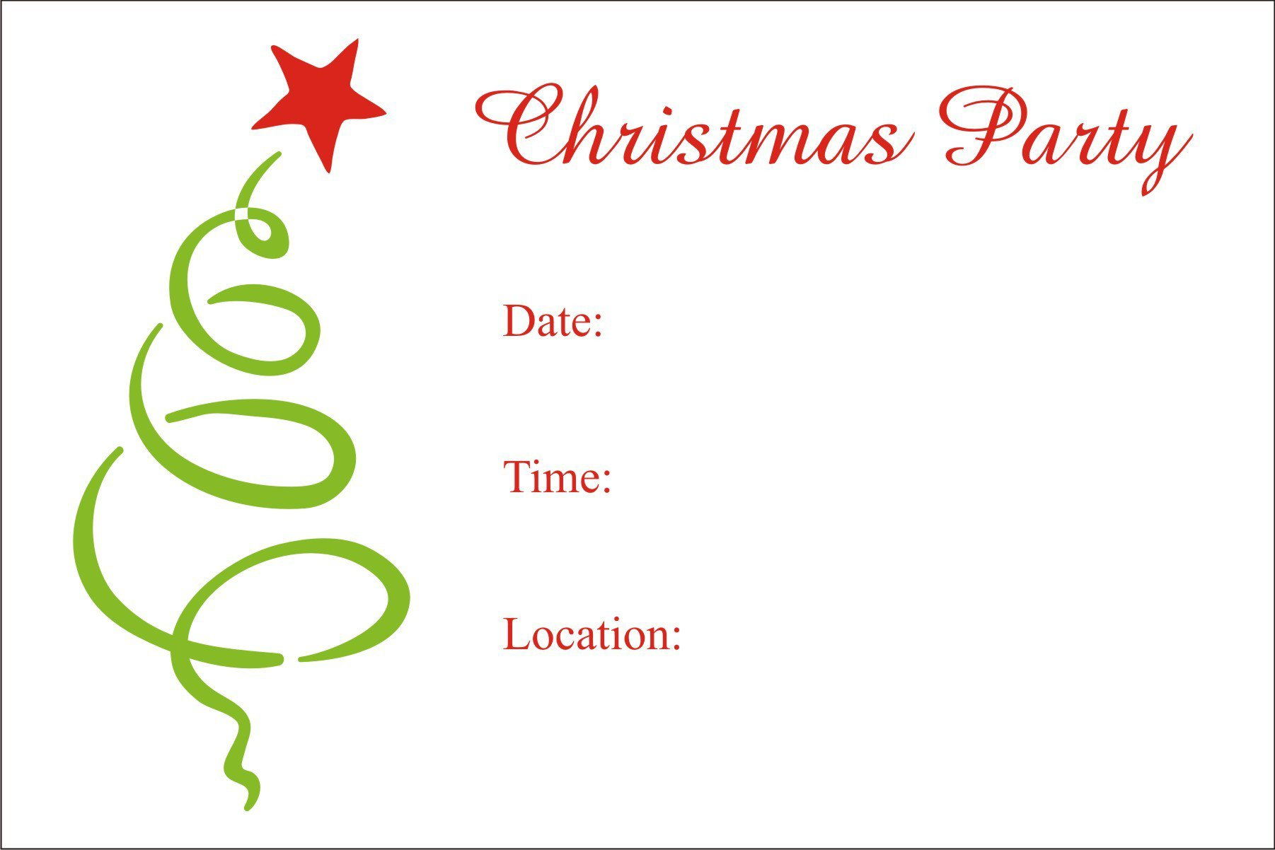 Holiday Party Invitations Printable