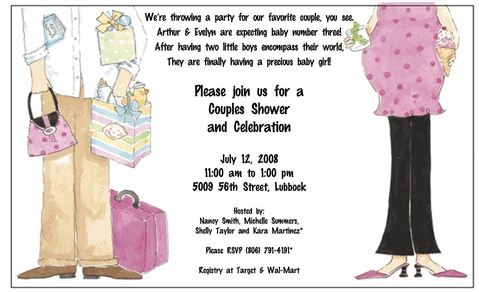 Homemade Baby Shower Invitation Wording