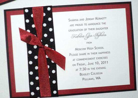 Homemade High School Graduation Announcements