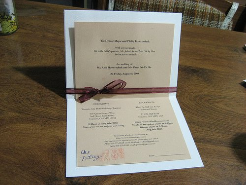 Homemade Invitations Wedding